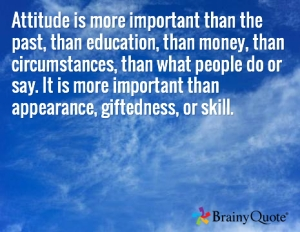 Quote on the importance of attitude by Charles R. Swindoll