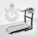 picture of a stop watch and treadmill