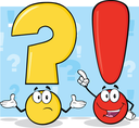 Yellow Question mark and red exclamation mark